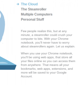 Getting started with ChromeOS page mentioning steamrollers