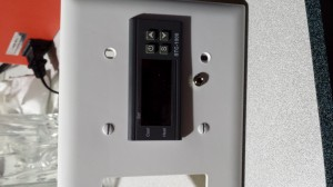 Front view of the finished temperature sensor disconnect.